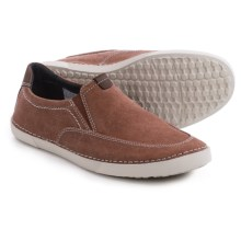 Clarks Neelix Fly Shoes - Canvas, Slip-Ons (For Men) in Rust - Closeouts