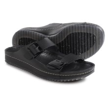 Clarks Netrix Free Sandals - Leather (For Men) in Black Leather - Closeouts