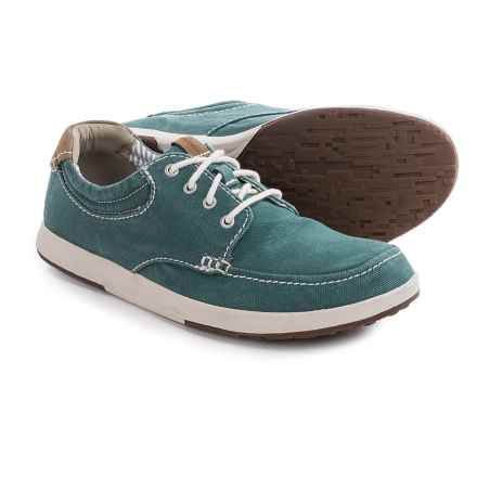 Clarks Norwin Vibe Canvas Shoes (For Men) in Teal - Closeouts