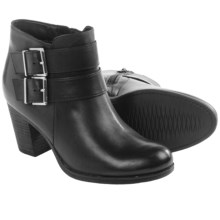 Clarks Palma Rena Buckle Ankle Boots - Leather (For Women) in Black Leather - Closeouts