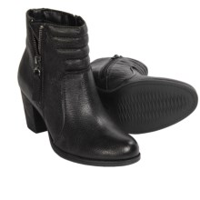 Clarks Palma Trina Ankle Boots - Leather (For Women) in Black Leather - Closeouts