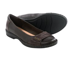 Clarks Pegg Abbie Shoes - Slip-Ons (For Women) in Brown Leather - Closeouts