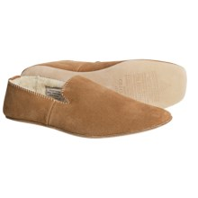 Clarks Petersburg Slippers - Suede, Shearling Lined (For Men) in Tan Suede - Closeouts