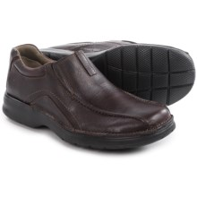 Clarks Pickett Leather Shoes - Slip-Ons (For Men) in Brown Oily - Closeouts