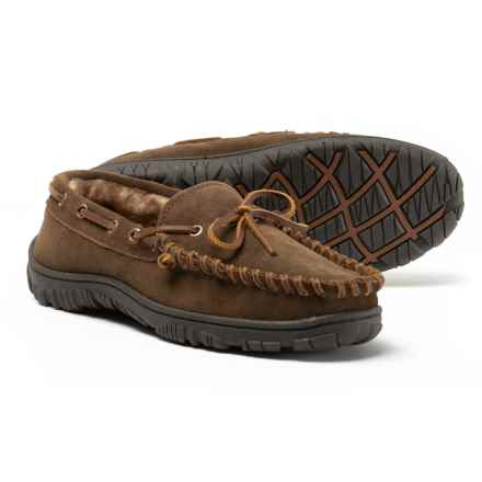 Clarks Pile-Lined Moccasins - Leather (For Men) in Sage - Closeouts