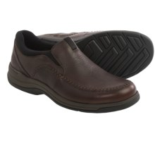 Clarks Portland 2 Easy Shoes - Leather, Slip-Ons (For Men) in Brown Leather - Closeouts