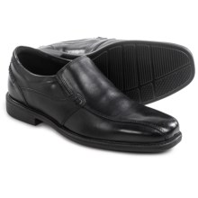 Clarks Quid Felix Shoes - Leather, Slip-Ons (For Men) in Black Leather - Closeouts