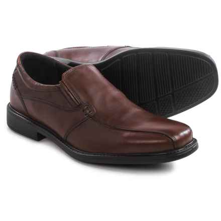Clarks Quid Felix Shoes - Leather, Slip-Ons (For Men) in Brown Leather - Closeouts