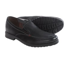 Clarks Rakin Free Shoes - Slip-Ons (For Men) in Black Tumbled Leather - Closeouts