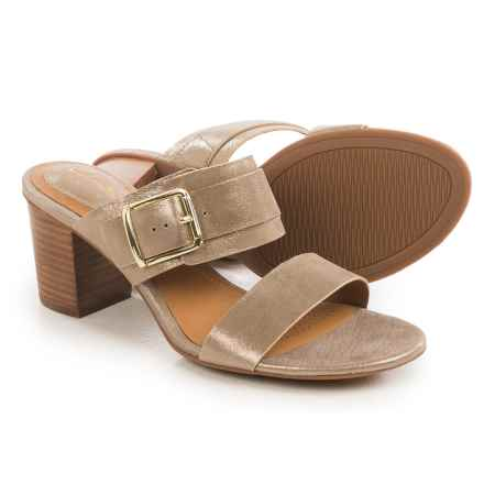 Clarks Ralene Rose Sandals - Leather (For Women) in Champagne Leather - Closeouts
