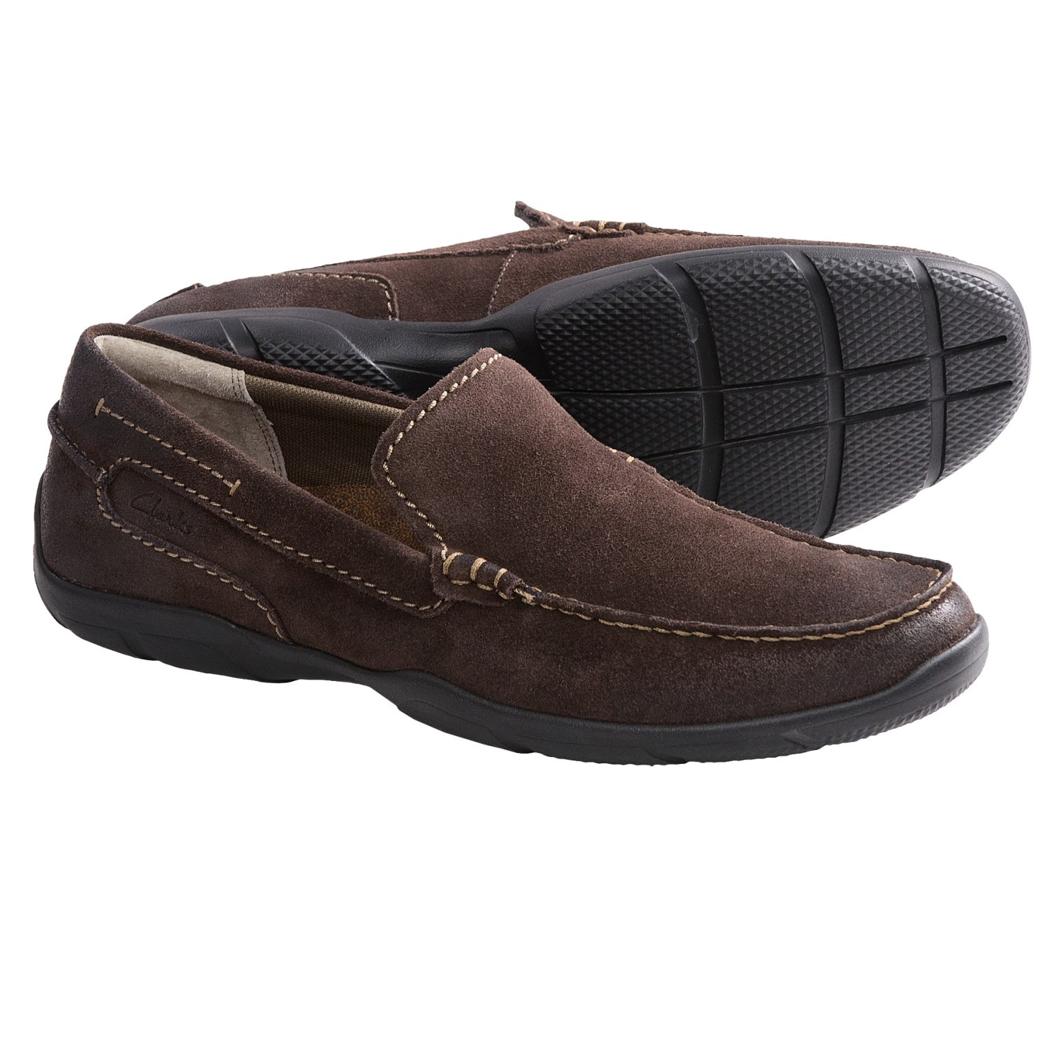 Clarks Ramiro Loafer Shoes - Suede (For Men) in Brown Suede