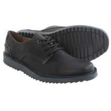 Clarks Remsen Limit Shoes - Leather, Lace-Ups (For Men) in Black Leather - Closeouts