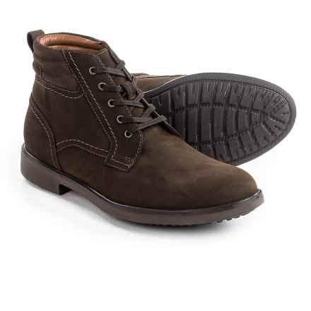 Clarks Riston Chukka Boots - Nubuck (For Men) in Brown Nubuck, Edge - Closeouts