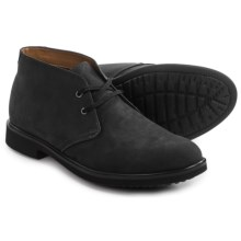Clarks Riston Style Chukka Boots - Nubuck (For Men) in Black Leather - Closeouts
