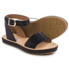 Clarks Romantic Moon Sandals - Leather (For Women) in Black Leather - Closeouts