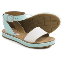 Clarks Romantic Moon Sandals - Leather (For Women) in Duck Egg Blue Combi - Closeouts