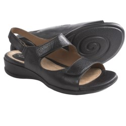 Clarks Sarasota Sandals - Leather (For Women) in Dark Brown Croc Print Patent