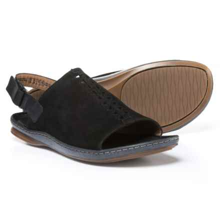 Clarks Sarla Forte Sandals - Nubuck (For Women) in Black Nubuck - Closeouts
