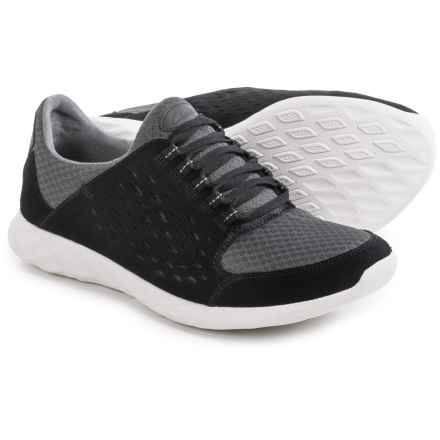 Clarks Seremax Lace Sneakers - Suede (For Men) in Black Suede - Closeouts