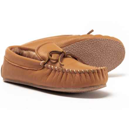 Clarks Shearling Moccasins - Leather (For Women) in Maple - Closeouts