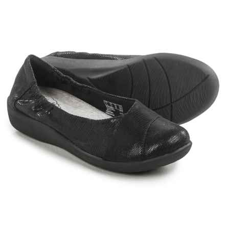 Clarks Sillian Intro Shoes - Slip-Ons (For Women) in Black Mini Lizard Print - Closeouts