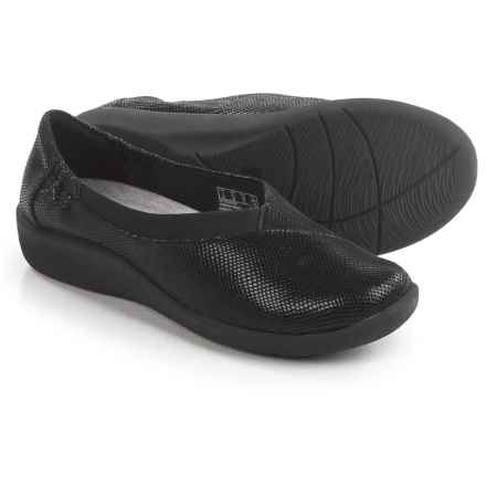 Clarks Sillian Jetay Shoes - Slip-Ons (For Women) in Black Combo - Closeouts