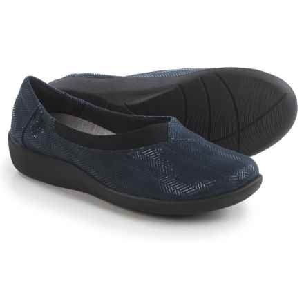 Clarks Sillian Jetay Shoes - Slip-Ons (For Women) in Navy Combo - Closeouts