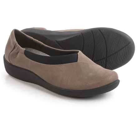 Clarks Sillian Jetay Shoes - Slip-Ons (For Women) in Pewter Synthetic - Closeouts