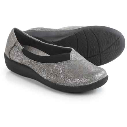 Clarks Sillian Jetay Shoes - Slip-Ons (For Women) in Silver - Closeouts