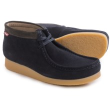 Clarks Stinson Hi Chukka Boots - Leather (For Men) in Blue Suede - Closeouts