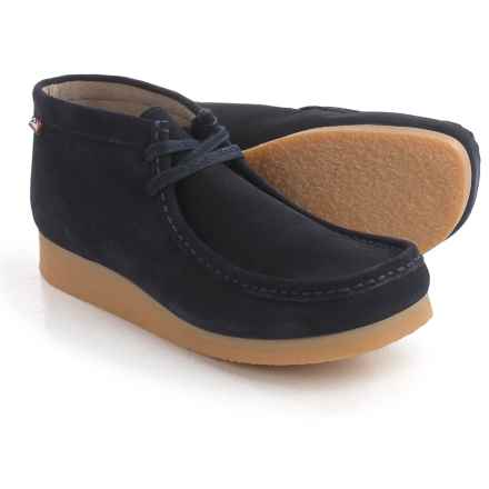 Clarks Stinson Hi Chukka Boots - Leather (For Men) in Dark Blue Suede - Closeouts