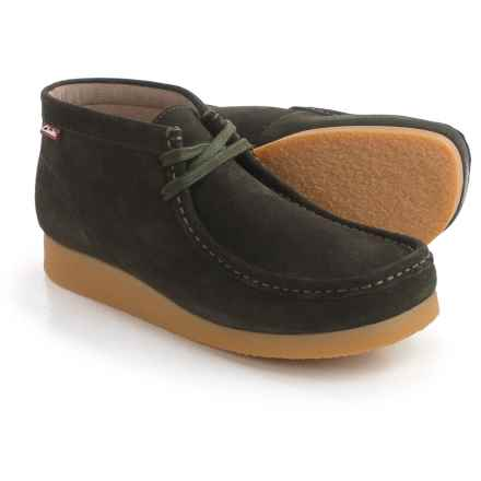 Clarks Stinson Hi Chukka Boots - Leather (For Men) in Loden Green - Closeouts