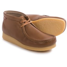 Clarks Stinson Hi Chukka Boots - Leather (For Men) in Tan Leather - Closeouts