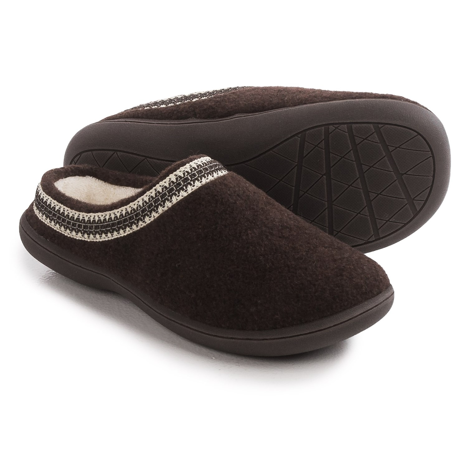 Clarks Stitched Clog Slippers For Women Save 69