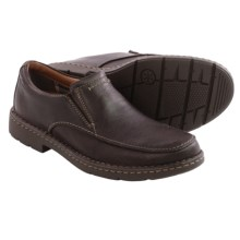 Clarks Stratton Easy Leather Shoes - Slip-Ons (For Men) in Brown Leather - Closeouts
