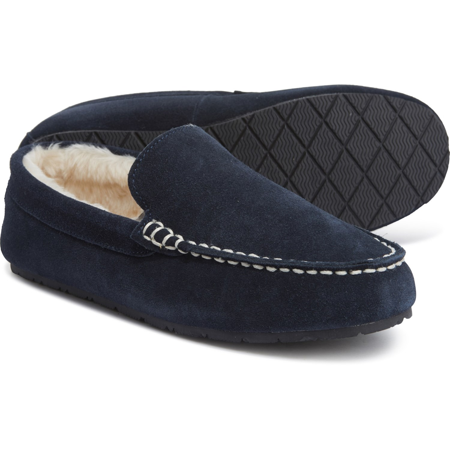 Clarks Suede Moccasin Slippers (For Men