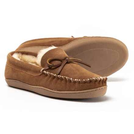 Clarks Suede Moccasins - Shearling Lined (For Women) in Cinnamon - Closeouts