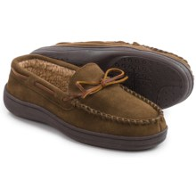 Clarks Suede Moccasins - Sherpa Lined (For Men) in Sage Suede - Closeouts