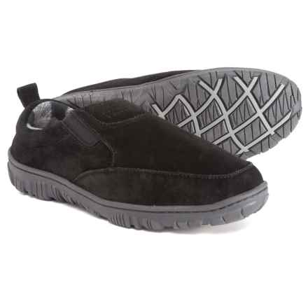 Clarks Suede Slippers (For Men) in Black - Closeouts