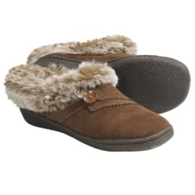 Clarks Suede Slippers (For Women) in Cinnamon - Closeouts