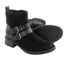 Clarks Swansea Grove Ankle Boots - Suede (For Women) in Black Suede - Closeouts