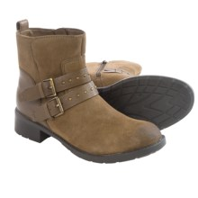 Clarks Swansea Grove Ankle Boots - Suede (For Women) in Khaki Suede - Closeouts