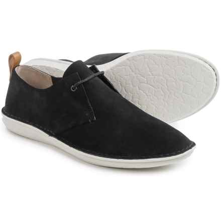 Clarks Tamho Edge Shoes - Suede (For Men) in Black Suede - Closeouts