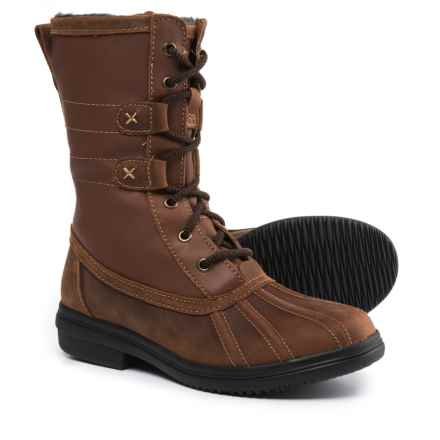 Clarks Tavoy Juniper Mid Duck Boots - Waterproof, Leather (For Women) in Brown/Tan - Closeouts