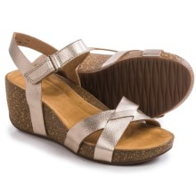 Clarks Temira Compass Wedge Sandals (For Women) in Gold Metallic - Closeouts