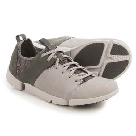Clarks Tri Active Sneakers - Nubuck (For Women) in Grey Nubuck - Closeouts