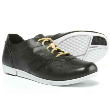 Clarks Tri Actor Sneakers - Leather (For Women) in Black Leather - Closeouts