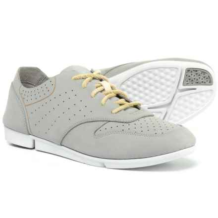 Clarks Tri Actor Sneakers - Leather (For Women) in Grey/Blue - Closeouts