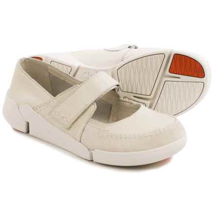 Clarks Tri Amanda Mary Jane Shoes - Leather (For Women) in Off White Combo - Closeouts