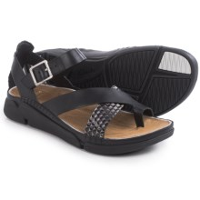 Clarks Tri Ariana Sandals - Leather (For Women) in Black Combi - Closeouts